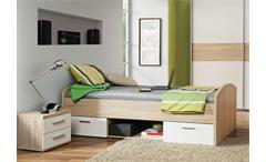 Jugendzimmer Winnie 3-teilig Bett Sideboard Kleiderschrank Sonoma Eiche weiß