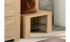 Schuhbank CALPE Garderobe Sitzbank mit Ablage Sonoma Eiche