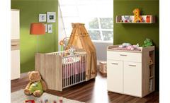 Wickelkommode Winnie 2-türig Babyzimmer Sonoma Eiche Dekor und weiß