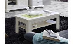 Couchtisch Kashmir Beistelltisch Tisch Wohnzimmertisch in Pinie weiß 120 cm