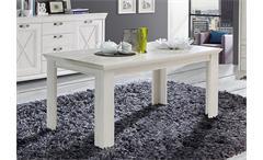 Esstisch Kashmir Tisch Esszimmertisch in Pinie weiß ausziehbar 160-205