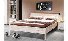 Bett Beach Kinderzimmerbett Einzelbett Jugendzimmerbettin Sandeiche weiß 140x200