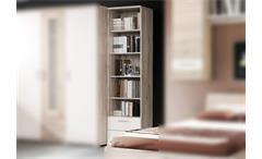 Regal BEACH Bücherregal in Sandeiche und weiß 50 cm
