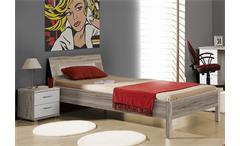 Jugendzimmerset 2 Beach Jugendzimmer Schrank Bett Nako in Sandeiche und weiß