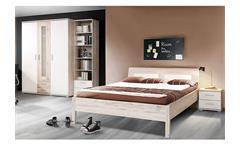 Jugendzimmerset 3 Beach Jugendzimmer Schrank Bett Nako in Sandeiche und weiß