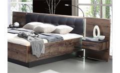 Bettanlage Bellevue Bett Nachtkommode Schwarzeiche und Schlammeiche LED