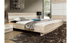 Bett Valerie Futonbett Schlafzimmerbett Doppelbett in Sandeiche weiß 180x200 cm
