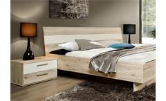Schlafzimmerset VALERIE Schlafzimmer Schrank Bett Nako in Sandeiche weiß