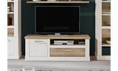 TV-Unterschrank Duro Lowboard TV-Board Pinie weiß und Eiche antik