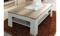 Couchtisch Duro Beistelltisch Tisch Wohnzimmertisch Pinie weiß Eiche antik