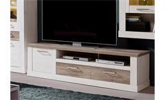 TV-Unterschrank 2 Duro Lowboard TV-Board Pinie weiß und Eiche antik