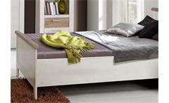 Jugendzimmer Duro Seniorenzimmer Schlafzimmer Pinie weiß und Eiche antik