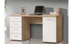 Schreibtisch Net 106 Home Office Bürotisch Computertisch Sonoma Eiche weiß