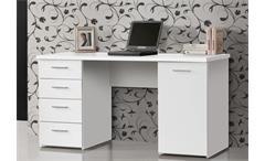 Schreibtisch Net 106 Home Office Bürotisch Computertisch PC-Tisch weiß matt