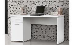 Schreibtisch 2 Net 106 Home Office Bürotisch Computertisch PC-Tisch weiß matt