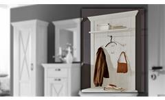 Wandpaneel Kashmir Garderobenpaneel Garderobe Paneel in Pinie weiß