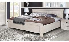 Bett Kashmir Schlafzimmerbett Doppelbett in Pinie weiß 180x200 cm