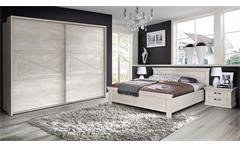 Schlafzimmerset 1 Kashmir Schlafzimmer Schrank Bett Nachtkommode in Pinie weiß