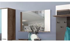 Spiegel Raven Wandpsiegel Dekospiegel Garderobenspiegel in Schlammeiche weiß 105