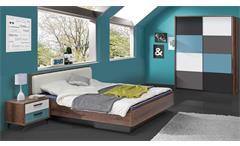 Jugendzimmer 1 Raven Kinderzimmer in Schlammeiche weiß schwarz grün grau