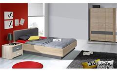 Jugendzimmer 1 Yook Jugendzimmerset Kinderzimmer Sonoma Eiche und grau anthrazit