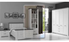 Regal Garlando Bücherregal Schrank in Schneeeiche weiß und Pinie grau
