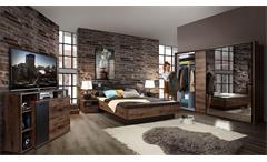 Bett Jacky Bettgestell Schlafzimmer mit Bank Schlammeiche Schwarzeiche 180x200