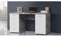 Schreibtisch Net106 Bürotisch Computertisch Tisch Home Office Beton weiß matt