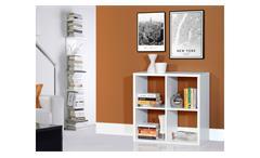 Regal Mauro Bücherregal Regalsystem in weiß mit 4 offenen Fächern 2x2