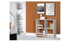 Regal Mauro Bücherregal Regalsystem in Sandeiche mit 4 offenen Fächern 2x2