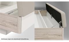 Bettanlage RONDINO in Betonoptik und Weiß mit LED 180x200