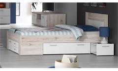 Jugendbett Stefan Bettanlage mit Nachttischen Kinderbett Jugendzimmer 140x200