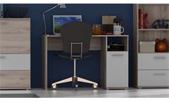 Schreibtisch Stefan Computertisch Jugendzimmer Sandeiche und weiß