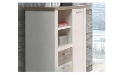 Highboard Duro 110 cm Büroschrank Aktenschrank in Pinie weiß Eiche Antik