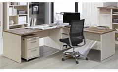 Eckschreibtisch Duro Schreibtisch Winkelschreibtisch Büro Pinie weiß Eiche Antik