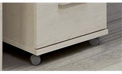 Rollcontainer Duro Bürocontainer mit Schloß Rollschrank Pinie weiß Eiche Antik