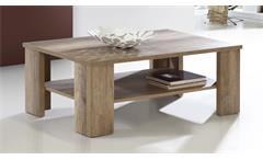 Couchtisch Bruce Beistelltisch Wohnzimmertisch Tisch Eiche dunkel Antik Ablage