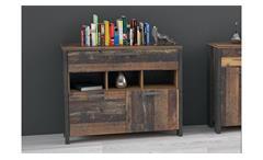 Kommode 2 Clif Anrichte Sideboard Schrank old wood vintage und Beton dunkelgrau