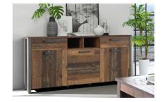 Sideboard 1 Clif Kommode Anrichte Schrank old wood vintage und Beton dunkelgrau