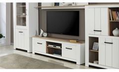 TV-Board Elara Lowboard Unterschrank Kommode Wohnzimmer weiß matt Eiche Bianco