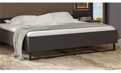 Bettanlage Sirius Black Bett Nachtkommode Schlafzimmer in grau Stabeiche mit LED