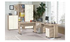 Büroset Tempra Schreibtisch Regal Schrank Büromöbel Office in Sonoma Eiche weiß