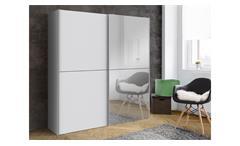 Schwebetürenschrank weiß mit Spiegel Kleiderschrank White Kiss Schrank 170 cm