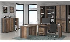 Aktenschrank Clif Kommode Büroschrank old wood vintage Beton 2-türig
