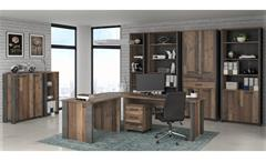 Büro Set CLIF Arbeitszimmer old wood vintage Beton Optik 10-teilig