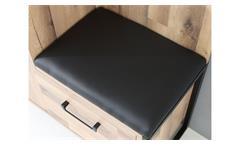 Sitzkissen für Kompaktgarderobe Hud Sitzbank Kissen schwarz gepolstert 52x39