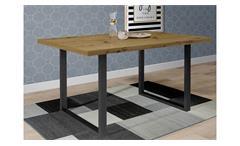 Esstisch Küchentisch Tables Tischsystem D78 Artisan Eiche U-Gestell schwarz 160