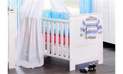Babybett EMMA in Kiefer massiv weiß gewachst 70x140 cm