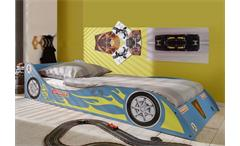 Kinderbett Rennwagen in Blau Jugendbett 90x200 cm