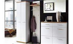 Garderobenpaneel 1 Top Paneel Wandpaneel in weiß und Sonoma Eiche Germania